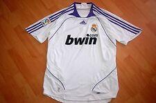 Adidas real madrid Home jersey a casa blanca camiseta talla M, fútbol fan Shirt
