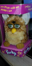 Vintage FURBY Brown / Tan Plush Toy WORKS!