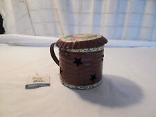 Jim Shore Crazy horse collection tin cup tealight holder, candle holder w/tags