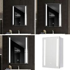 Large Medium Small LED Illuminated Bathroom Mirror Cabinet Shelf Touch Demister
