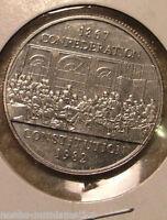 WOW!!! 1867 1982 Canada Nickel One Dollar Canadian $1 Confederation Constitution