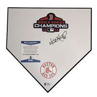Mitch Moreland Red Sox Signed Autograph Baseball Home Plate Base Beckett BAS COA