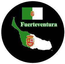 FUERTEVENTURA - MAP / FLAGGE - SOUVENIR NEUHEIT KÜHLSCHRANK-MAGNET / WEIHNACHTEN