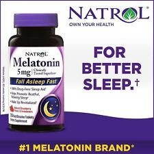 NATROL MELATONIN 5mg 250 TABS -SHIPPED FROM U.S.A.  +FREE WORLDWIDE SHIPPING*