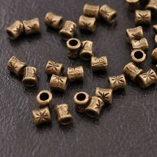 50/100Pcs Antique Tibetan Silver Tube Charm Spacer Beads Jewelry Findings SH3034