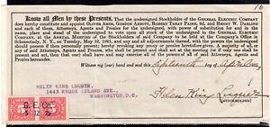**USA = 5c Documentary Revenue on G. E. C. Stockholder document. 1925. (O0700e)