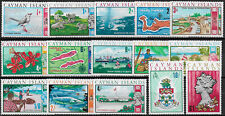 1969 Cayman Islands 15v. MNH SG no 222/36