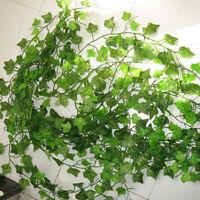 12X2.4M Kunstblumen Efeugirlande Künstliche Glyzinien Girlande Pflanzen Deko
