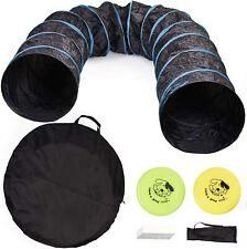 More details for dog agility tunnel pet training equipment speed dog play run jump obedience 5.5m