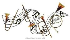 Musical & Note Wall Sculpture Metal Home Office Room Hang Art Decor Accent Gift