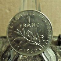 CIRCULATED 1960 1 FRANC FRENCH COIN (32117)2