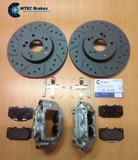 Impreza 4 Pot Calipers Left Right Pin Spring kit & MTEC Discs Brake Pads