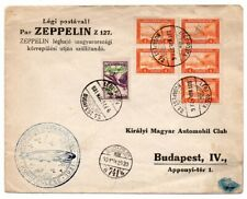 1931 HUNGARY ZEPPELIN ROUND FLIGHT COVER, HIGH VALUE STAMPS / CANCELS