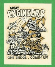 "Vintage Original 1966 Ed Roth Combat ""Army Engineers"" Viet Nam Water Decal Art"