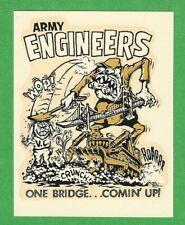 "Vintage Original 1966 Ed Roth Combat ""Army Engineers"" Viet Nam Water Decal Art"