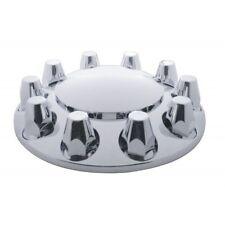 (2) Chrome Plastic Semi Truck Front Wheel Axle Hub Covers / 33mm / Removable Cap