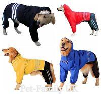 EXTRA LARGE GIANT dog 3pcs rain coat trousers hat hood clothes jacket waterproof