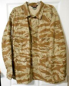 Tru-Spec Desert Tiger Stripe BDU Coat / Long Sleeve Shirt 100% Cotton Rip Stop