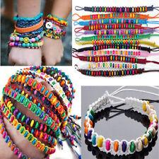 10pc Wholesale Lots Beads Braid Handmade Fashion Friendship Adjustable Bracelets