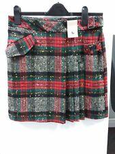 TU  Green Red Tartan Kilt  Style Short Winter Skirt  size 10 NWT