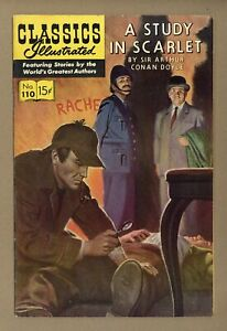 Classics Illustrated 110 A Study in Scarlet #2 FN/VF 7.0 1953