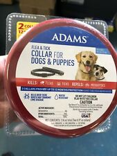 Adams Flea & Tick Collar for Dogs & Puppies (2 Collars) 12 Months Protection