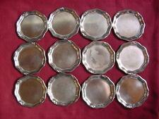 WMF 3700 Untersetzer 12 Stück versilbert Ø 10 cm