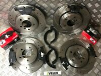 BMW 330CI 330D 330i E46 FRONT & REAR DRILLED & GROOVED DISCS BREMBO PADS 99-05