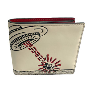 Coach Disney Mickey Mouse X Keith Haring Double Billfold Wallet