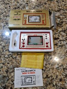 LCD MICKEY MOUSE Wide Screen Game Watch Boxed MC-25 Tested Nintendo JAPAN