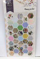 Pattern Vintage Spot Paper Stickers Flower Shape Scrapbook diary Cardmaking DIY