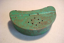 Vintage Tin Bait Box for Fishing Worms live bait