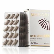 Makari Hair Grow Plus – 100% Drug-Free Dietary Supplement for Stronger, Longer,