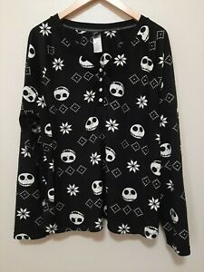 Nightmare Before Christmas Sleep Pajama Top Shirt 2XL Skellington Halloween Plus