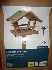 Rowlinson Wooden  Bird Table Free Standing House Feeder