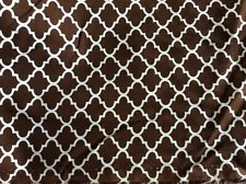 """Fabric Finders #Cd60 Chocolate Brown Quatrefoil Corduroy- 58""""W- By The Yard"""