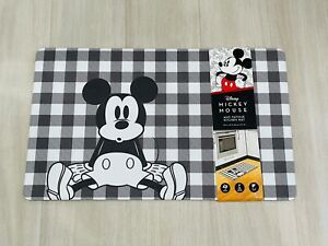 Disney Mickey Mouse Anti-Fatigue Kitchen Mat 18 x 30 Plaid New