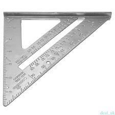 7'' Aluminum Alloy Triangle Angle Protractor Speed Square Measuring Ruler FEU