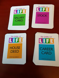 Parker Brothers The Game of Life 1991 Parts - Cards