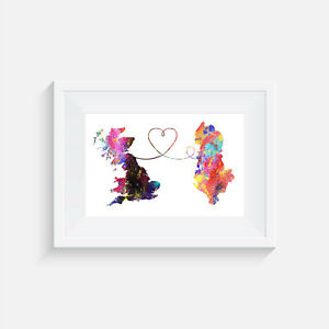 Britain, Albania, Travel, watercolor, print, poster, picture, gift, wall art