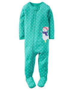 Baby Girl Fleece  pajama dots fleece 9 months