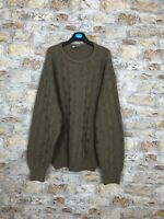 VINTAGE 90'S CREW COSBY WINTER WARM WOOL AZTEC MENS JUMPER SIZE LARGE #405