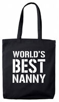 Worlds Coolest Nannie Design Nannie Birthday Gift Bag Shopping Bag Present Gifts For Women Invent Natural Birthday Gift Tote Print