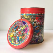 """Vintage Skate Bears 5.5"""" Metal Tin Container Graffiti Brick COOL YES AWESOME Red"""