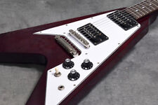 EDWARDS by ESP E-FV-100D Cherry, Flying V type Electric Guitar, MIJ, f8038