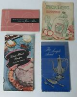 Vintage Lot Of 4 1950's Pickling, Recipe, And Silver Brochures Pamphlets