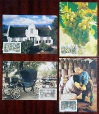 PAARL WINE INDUSTRY 300 YEARS 1987 MAXIMUM CARD SET OF 4