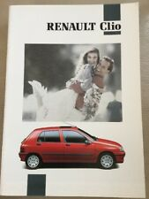 Renault Clio Car Brochure - February 1992