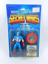 MARVEL SUPER HEROES SECRET WARS CAPTAIN AMERICA FIGURE SEALED MOC MATTEL 1984