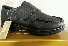 mens black dr keller touch fasten  smart casual comfort walking shoes size 8/42